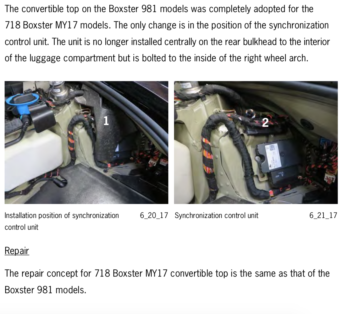 Porsche Boxster S Engine Access Car 981 Diagram 718 Forum